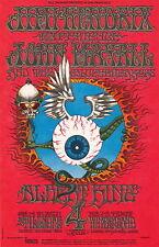 MINT Jimi Hendrix Rick Griffin 1968 BG 105 FLYING EYEBALL Fillmore Card