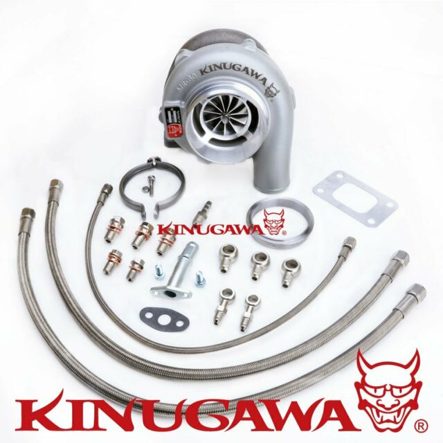 "Kinugawa Ball Bearing Turbo 4"" GTX3076R w/ .82 T3 For NISSAN RB20/RB25 Top Mount"