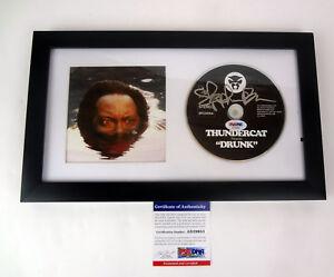 Thundercat-Stephen-Bruner-Signed-Autograph-Drunk-Framed-CD-PSA-DNA-COA-B