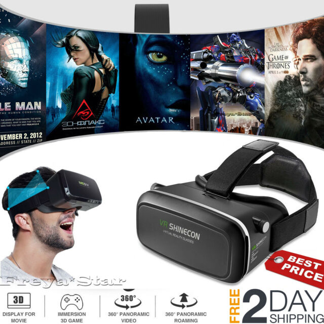 3D VR Headset Glasses Virtual Reality For 4.7- 6.0 Iphone Plus