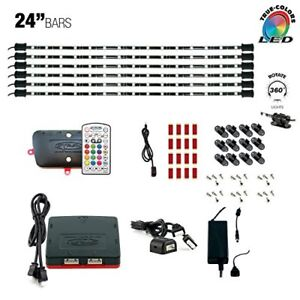 Details About Cyron Led Rgb Multicolor Tv Accent Cabinet Lighting Kit 6 X 24 Bars Etl