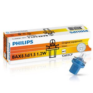 Philips-BAX-bax8-5d-1-5-1-2w-12v-Azul-10-UNIDADES-LUZ-DEL-TABLERO-12603cp