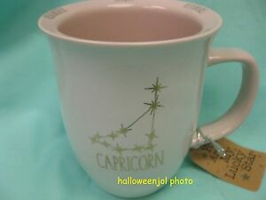 Image Is Loading Capricorn Zodiac Coffee Mug Cup White Pink Sign
