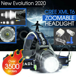 90000LM-Zoomable-LED-Headlamp-Rechargeable-Headlight-CREE-XML-T6-Head-Torch-AU