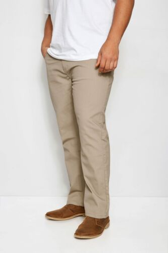 Badrhino Mens Big And Tall Stone Bedford Cord Trousers