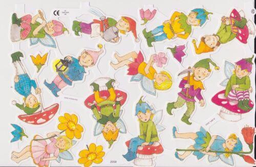 1 Bogen Glanzbilder Poesie Kinder Elfen Wichtel MLP 2058 Nr.789