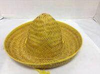 1 Kids Toys Mexican Sombrero Straw Hat Birthday Party Fiesta Supplies Yellow
