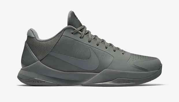 Nike Zoom Kobe V 5 FTB 11.5 Fade To Black 869454 006 Light Grey XI Predro Elite