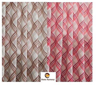 Frugale Controllo Termico Delle Highland Tartan Blackout Curtain Fodera Tessuto Materiale 150 Cm Ampia-