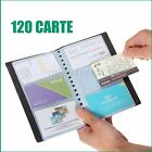 Leather 120 Cards Business Name ID Credit Holder Book Case Keeper Organizer