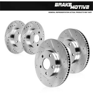 Front-And-Rear-Brake-Rotors-For-2012-2013-2014-2016-Toyota-Camry-Avalon-ES350