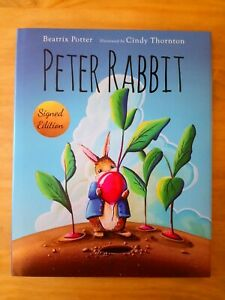 SIGNED-1ST-EDITION-of-PETER-RABBIT-by-BEATRIX-POTTER-amp-CINDY-THORNTON-FIRST