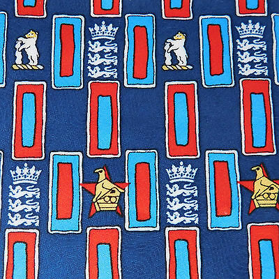 England v Zimbabwe cricket tie Edgbaston 2000 NEW Warwickshire international