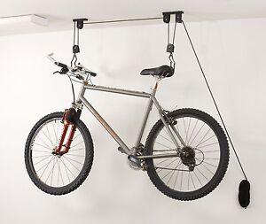 Image Is Loading Bike Lift Hoist Garage Ceiling Pulley Hanger Bicycle