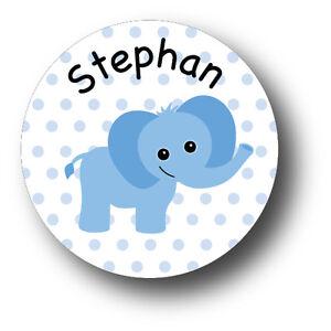 30 Baby Blue Elephant Baby Shower Invitation Favor White Stickers eBay