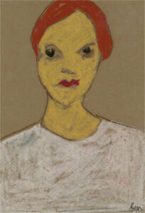 Ben Carrivick - Contemporary Pastel, Figure with Red Hair