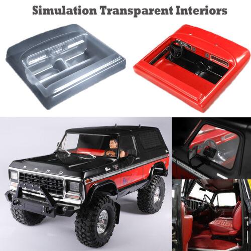 Simulation Transparent Interiors DIY Decoration For Traxxas TRX-4 Ford RC Car