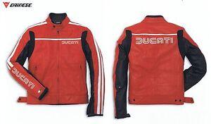DUCATI-DAINESE-80-039-S-Veste-blouson-en-cuir-gr-50-BLOUSON-MOTO-VESTE-ROUGE-NEUF