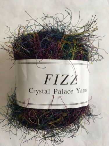 Blue Green Purple 50g 120yd Crystal Palace Fizz Eyelash Yarn #7123 Cool Jazz