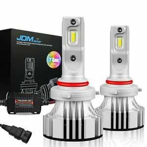 JDM ASTAR  2x 9006 6500K White COB LED Headlight Conversion Kit 8000LM Bulbs HB4
