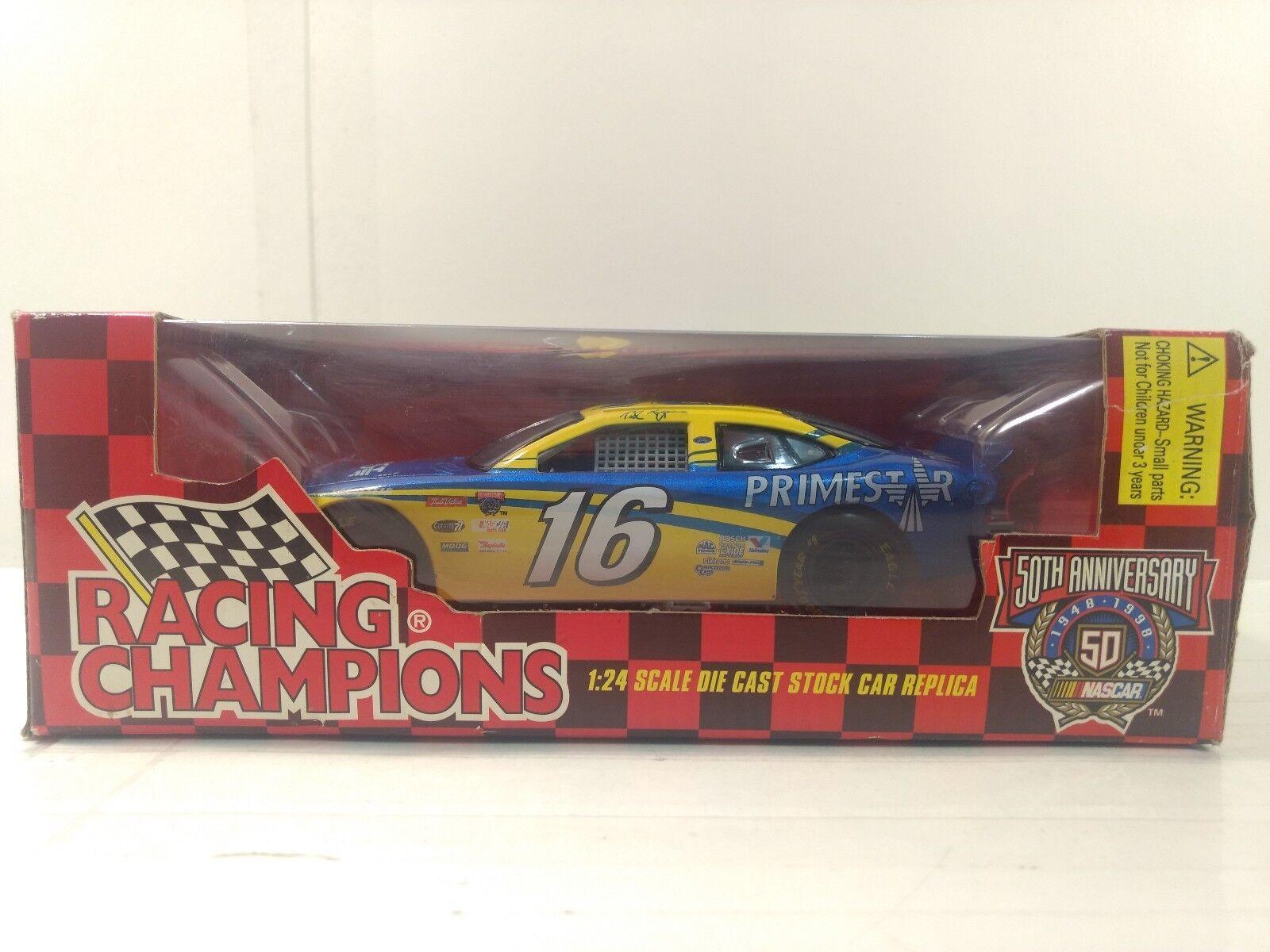 Nascar Ted Musgrave Primestar 1998 Ford 1 24 Escala de Metal Racing