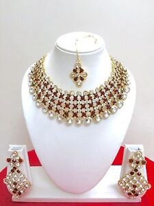 Indian-Designer-Bollywood-Gold-Plated-Fashion-Bridal-Jewelry-Necklace-Set