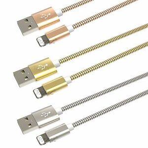 Chargeur Pour Iphones 8 7 6 5 Se Plus Ipad Ipod Metal RenforcÉ Cable Usb X2 X3