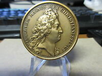 Louis XIV Perfugium Regibus / J. Mauger French Medal Bronze 41mm early restrike