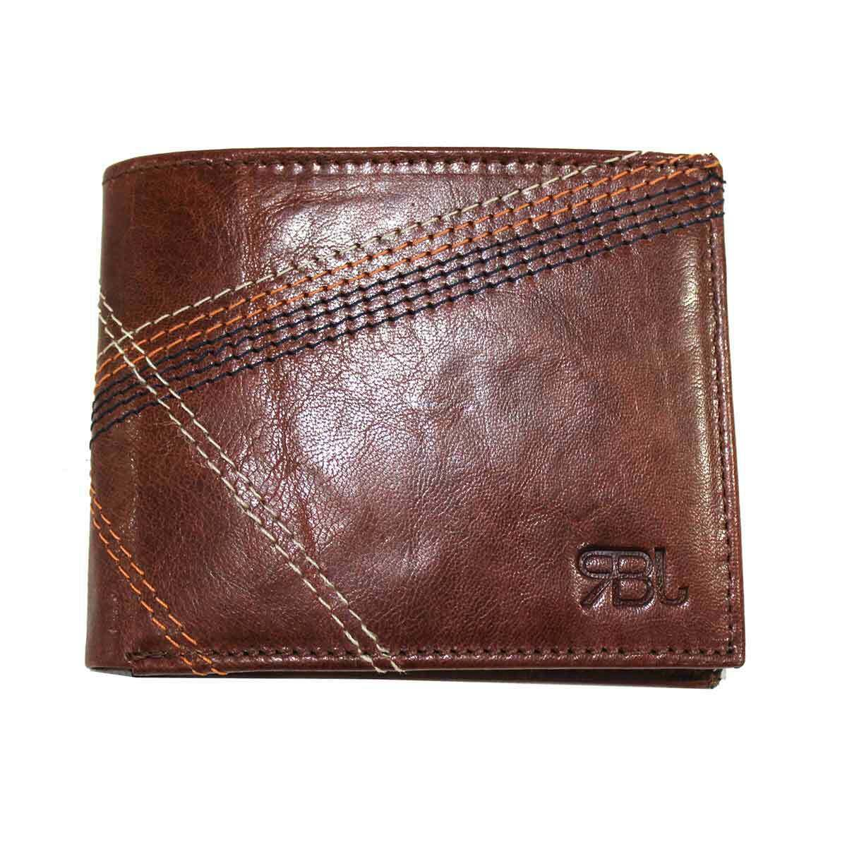 Men's Wallet In Genuine Leather For Credit Cards Banknotes Without Coin Pocket
