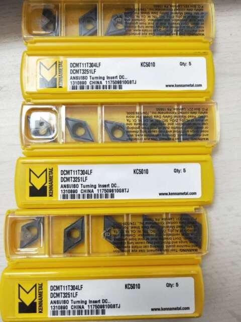 KENNAMETAL New Carbide Inserts VBMT222LF KC5010 Box of 5 Inserts