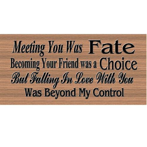 Meeting You Was Fate GS 1785 Romance sign Romanti cWood Signs