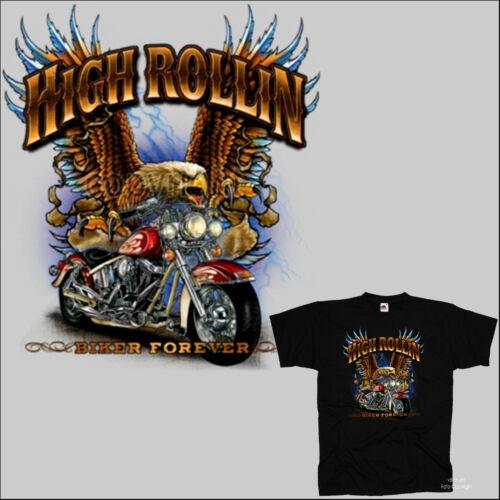 4014 BL Biker T-Shirt Old School Design Motard Style classic motorbike Adler