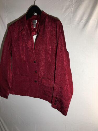 Chico's Blazen 2 118 Large 12 Jacket Antiqua Burgundy 14 Ny Red Sz RA5O8w8x