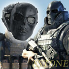 New Skull Skeleton Full Face Mask Tactical Paintball Airsoft Protect Safety