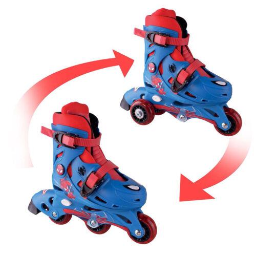 1 Paar Kinder Rollschuhe Inliner 2 Funktionen größenverstellbar