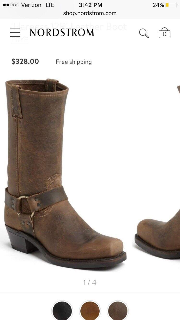 offrendo il 100% Frye Harness Dimensione Dimensione Dimensione 7.5  328 NEW Vintage Leather Square-Toe stivali  spedizione gratuita in tutto il mondo