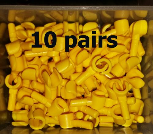 REDUCED Genuine Lego Minifig ~ Lot Of 20 Yellow Hands 10 Pair Parts Lot