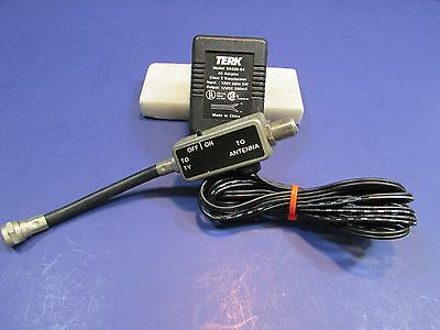 Terk Antenna /CABLE BOOSTER#D9300-04 WITH AC ADAPTER 12VDC 200Ma TESTED WORKS