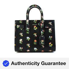 Yves Saint Laurent Womens Leather Prairie Flower Shoulder Strap Handbag