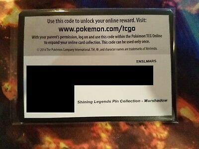 Marshadow Pin Box Shining Legend Online Code Card Pokemon TCG Sent by  Email