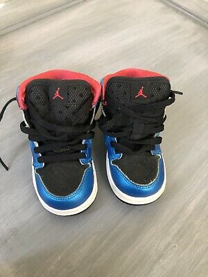 huge discount 4731c 33ec6 Nike Air Jordan Retro 1 High OG Kids 6C Black Blue Magenta | eBay