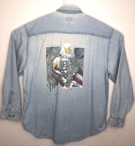 Polar Quality Sportswear mens XL eagle print chamb