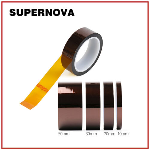 100ft Kapton Tape Adhesive High Temperature Heat Resistant Polyimide 5~50mm BGA