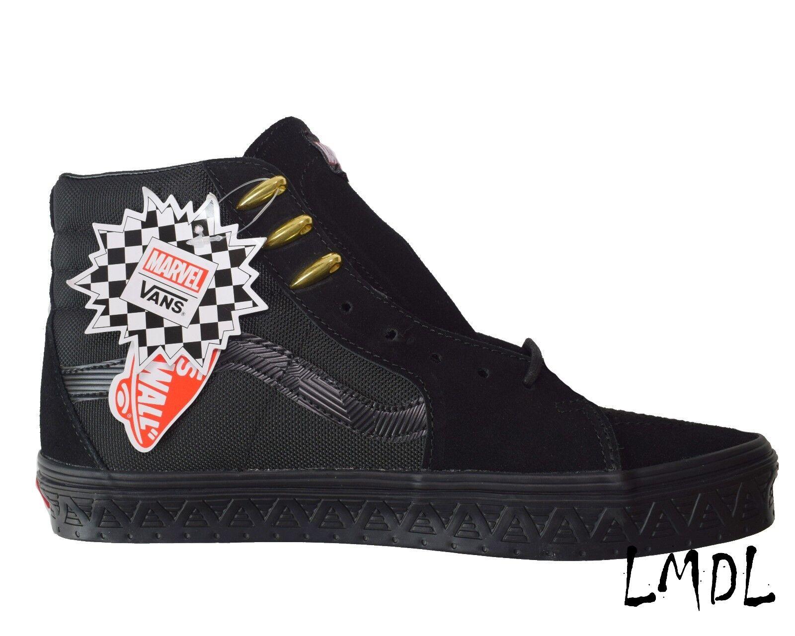 Vans x Marvel Sk8-Hi Shoe BLACK PANTHER VN0A38GEUBH Black Gold Men SIZE 11 11.5