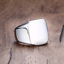 Anello-Fede-a-Fascia-Uomo-Donna-Unisex-Acciaio-Inox-Steel-Nero-Black-Incisione miniatura 11