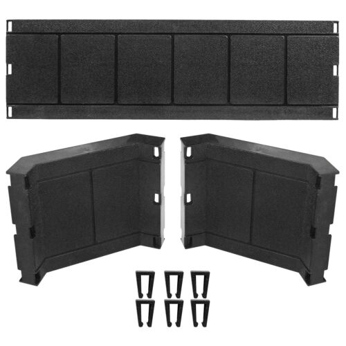 Deluxe Black Ring Guard Rail Barricade Set for WWE Wrestling Action Figures