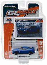 1:64 GreenLight *GL MUSCLE R17* Blue 2014 Nissan GT-R (35) *NIP*