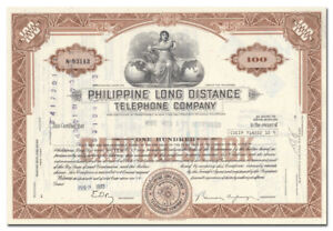 Details About Philippine Long Distance Telephone Company Stock Certificate