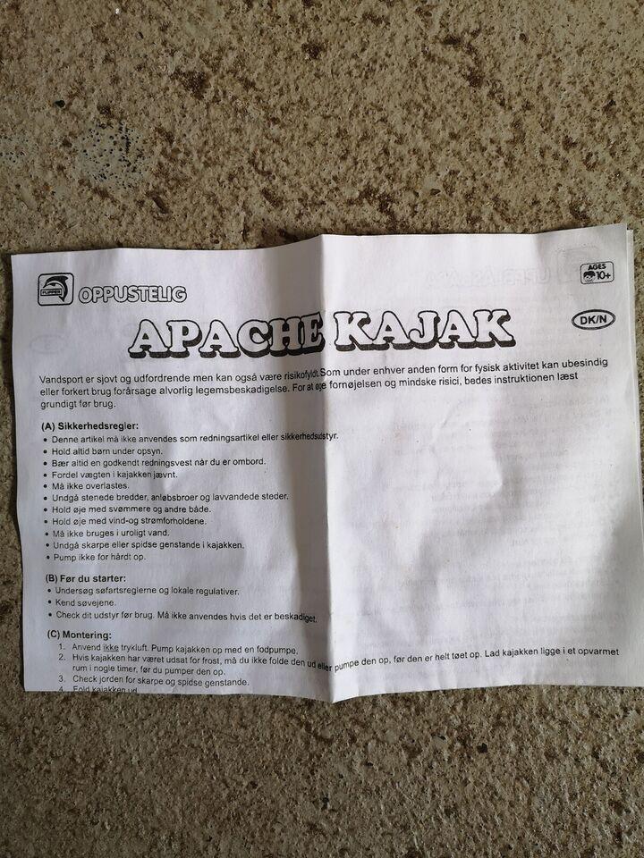 Kajak, Oppustelig kajak, Apache