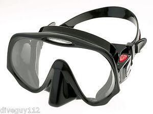 Atomic Aquatics Frameless Mask for Scuba Diving and Snorkeling Black Standard